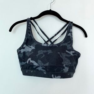 Wear It To Heart Camo Sports Bra